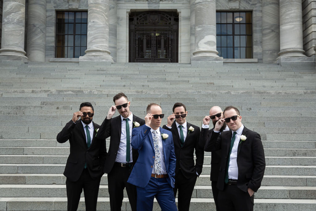 grooms man at parliment grounds